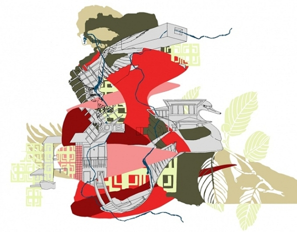 "Kim Schoenstadt & Mara Lonner, ""Still Rivers Run (with Grand Rapids and Great Swiftness)""  2012"