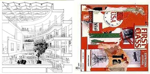 Richard Meier, Rendering and collage (rotated)